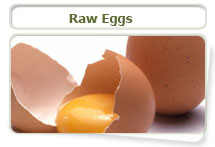 Raw eggs can lead to skin and hair coat problems