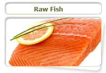 Raw fish can result in a thiamine
