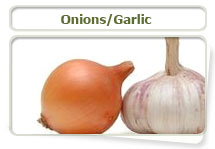 Onions and garlic can be harmful to cats